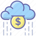cashback, coins falling, coins raining, earnings, finance raining, money raining icon