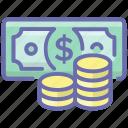 asset, banknote, cash, finance, money, wealth icon