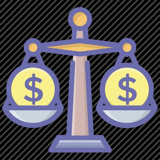 balance scale, balance symbol, business balance, financial balance, law symbol, measuring scale icon