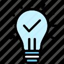 bulb, idea, lamp, light, power icon