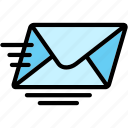 email, express, mail, message, send icon
