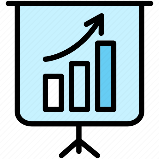 conference, graph, meeting, office, presentation icon