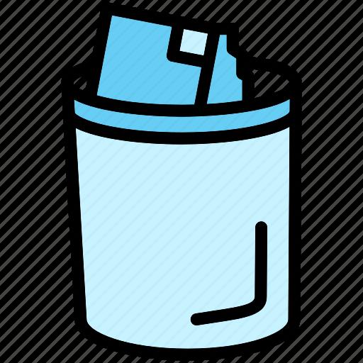 can, delete, dustbin, garbage, trash icon