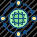 banking, business, dollar, economics, finance, globe, international icon