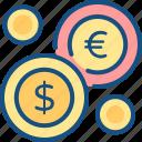 coins, currency, market, money, money market