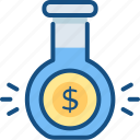 business, experiment, finance, research, test icon