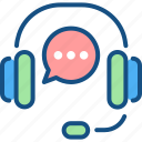 audio, headset, help, operator, services, support icon