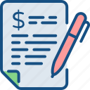 budgeting, business plan, business strategy, economic plan, report icon
