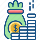 banking, coins, currency, dollars, income, money, savings