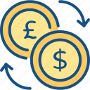 conversion, currency, exchange, money, transfer