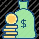 bag, finance, income, money, payment