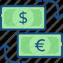 cash, exchange, money