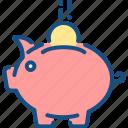 bank, business, dollar, money, piggy, savings icon