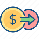 exchange, flow, money, send, transfer