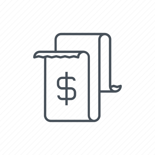 commerce, commercial, dollar, dollars, invoice, money, paper icon