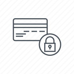 block, credit card, locked, money, padlock, security, wire transfer icon