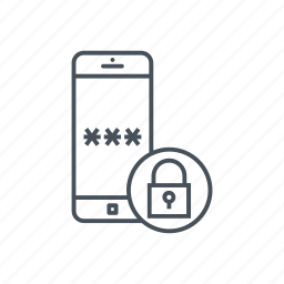 cellphone, lock, mobile phone, padlock, password, secure, smartphone icon