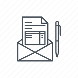 document, email, file, mail, page, web page, website icon