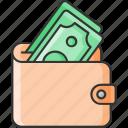 cash, money, purse, wallet