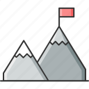 business, goal, mission icon