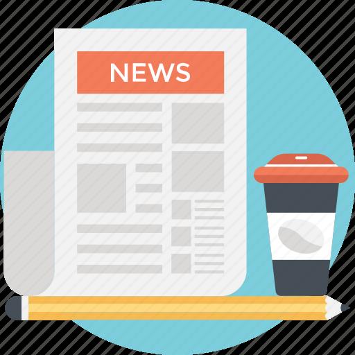article, news, newspaper, press, print media icon
