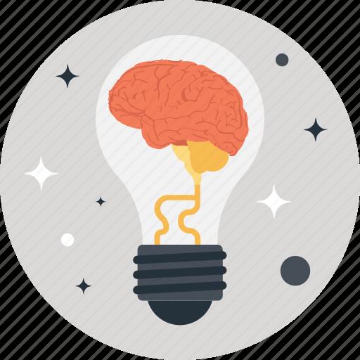 brain, bulb, idea, innovation, smart solution icon