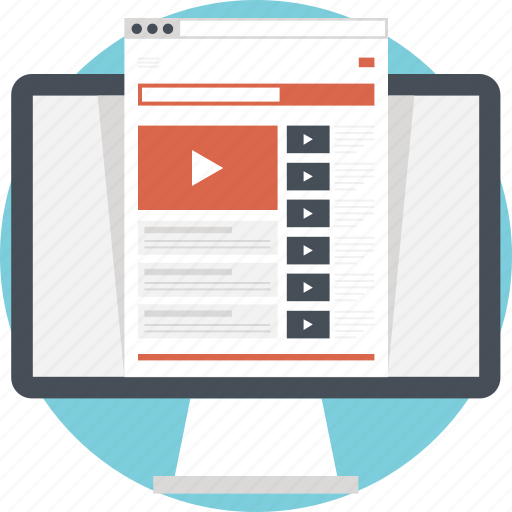 media, online, player, video, video streaming icon