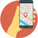 gps, location, map, navigation, smartphone icon