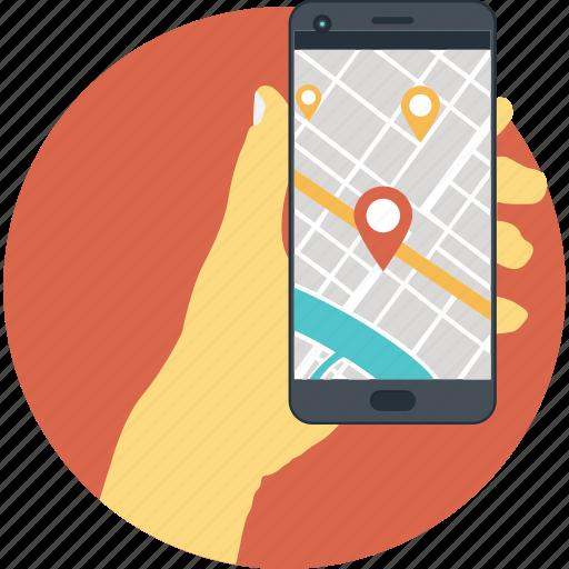 gps, location, map, navigation, smartphone icon
