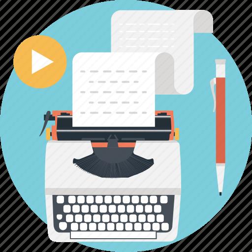 content writing, stenographer, typewriter, typing, typist icon