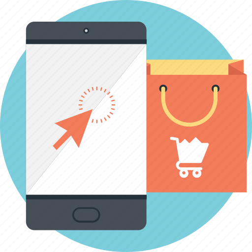 bag, m commerce, shopping, smartphone, tote icon