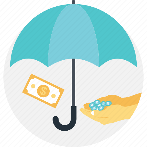 business, coins, insurance, paper money, wealth icon