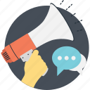 advert, announcement, chat, marketing, megaphone icon