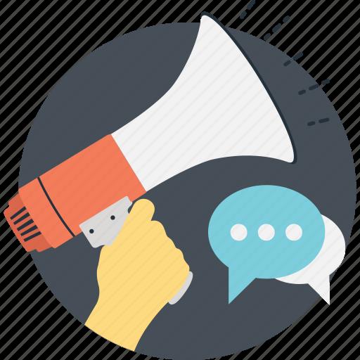 advert, announcement, chat, marketing, megaphone icon