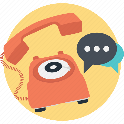 chat, dial, landline, phone, support icon
