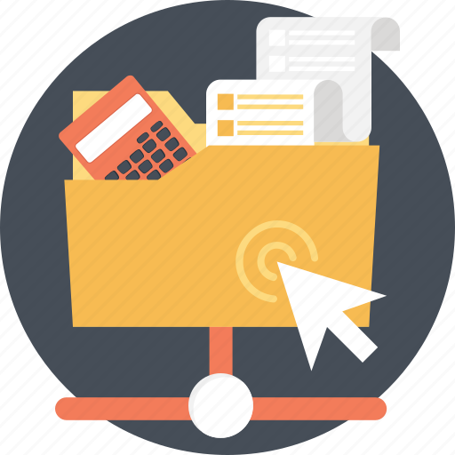 budget, click, files, network, sharing icon