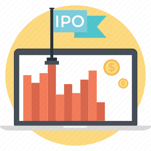 business growth, flag, growth, ipo, public offering icon