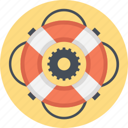 guard, lifebuoy, lifeguard, lifesaver, technical assistance icon