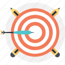 bullseye, dart, solution, target, trick icon