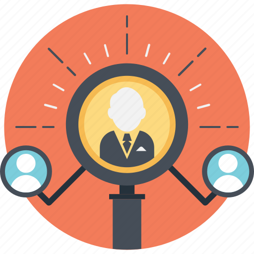 find, human resource, magnifier, people, staff icon