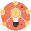 bulb, crowdfunding, idea, innovation, invention icon