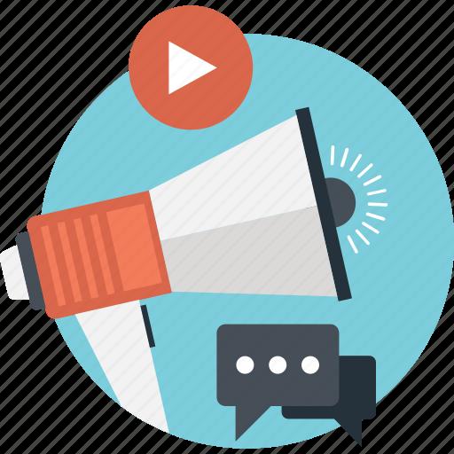 Hailer, loudspeaker, megaphone, promotion, speaker icon - Download on Iconfinder