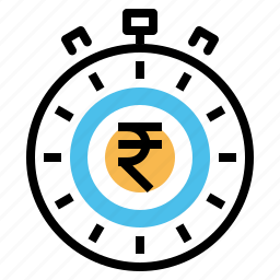clock, deadline, indian, management, performance, rupee, time icon