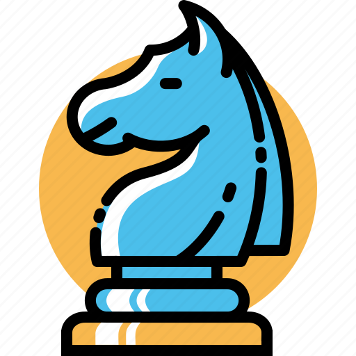 business, chess, knight, marketing, plan, strategy, tactic icon