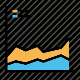 analysis, business, growth, periodic icon