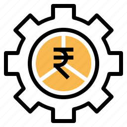 gear, indian, money, optimization, rupee, settings icon