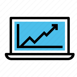 chart, growth, management, marketing, online, success, upwards icon