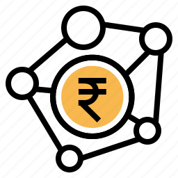banking, business, connection, indian, money, payment, rupee icon