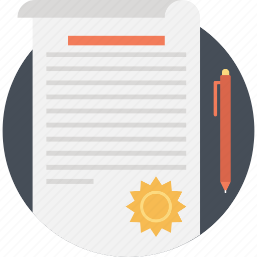 contract, document, paper, sheet, text icon