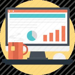bar, graph, pie, report, statistics icon